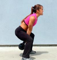 CrossFit kettlebell swing