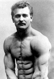 Cvičení břicha - Eugene Sandow