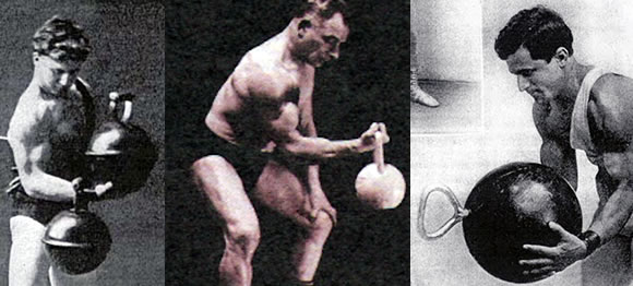 bicepsový zdvih s kettlebell